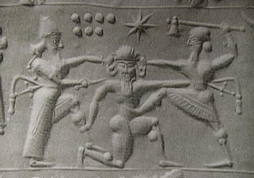 Gilgamış ve Enkidu, Gilgamesh and Enkidu