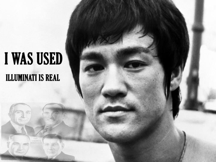 Bruce Lee, illuminati, i was used, illuminati is real