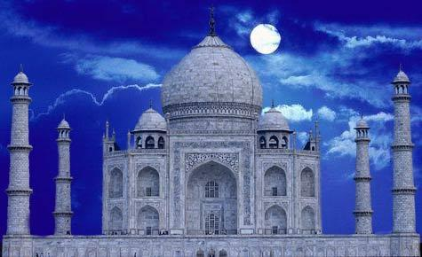 The Taj Mahal and Moon, Taç Mahal ve Ay