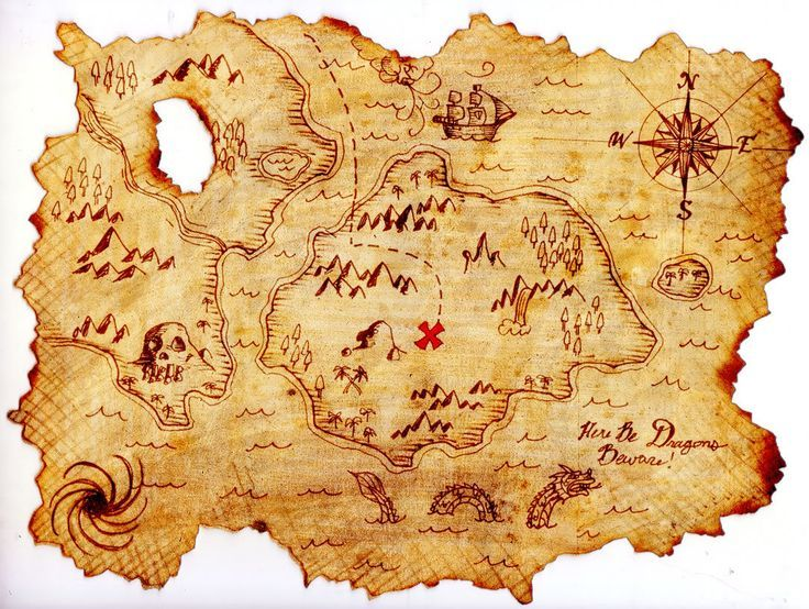 define haritası, treasure map