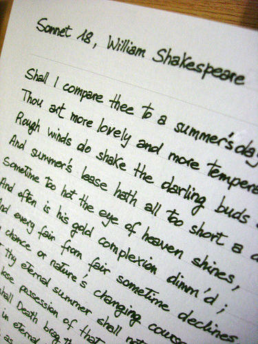 William Shakespeare, Sone, Sonnet, Poe