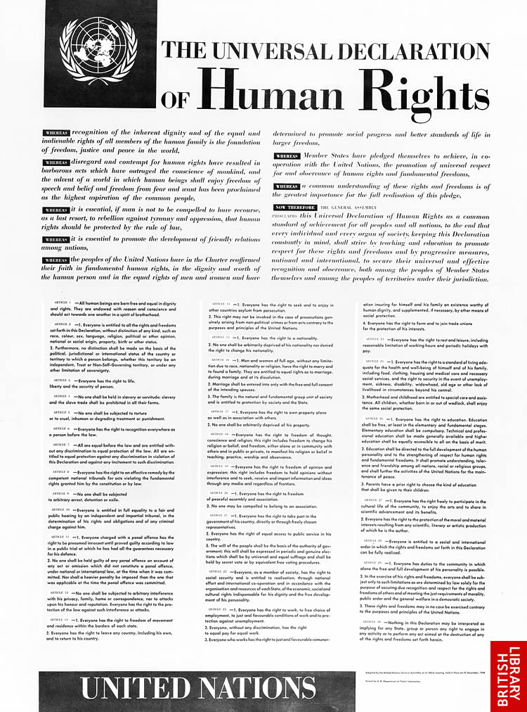İnsan Hakları Evrensel Beyannamesi (Universal Declaration of Human Rights - UDHR)