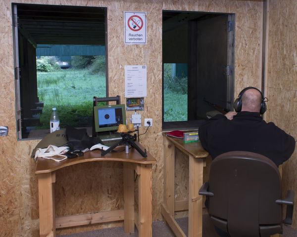Schütze mit dem Mauser 98k auf 200 Meter