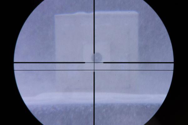 Foto: Schwierige Sicht auf der 200 Meter Bahn.