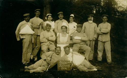 Gruppenfoto verwundeter Soldaten