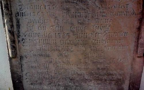 Foto eines Grabsteins