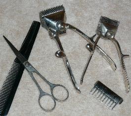 Foto alten Friseurwerkzeugs