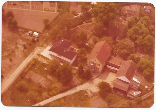 Foto eines Hauses aus der Luft