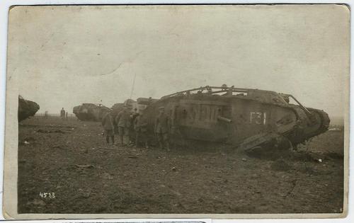 Historisches Foto eines Panzers