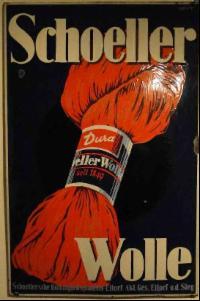 Werbeplakat Schoeller Wolle