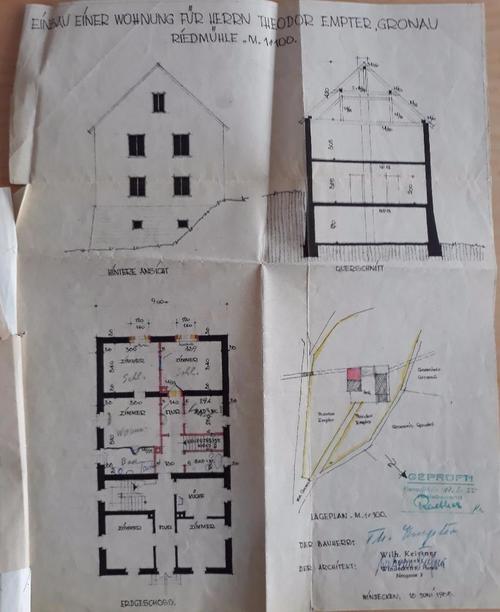 Foto eines Bauplans