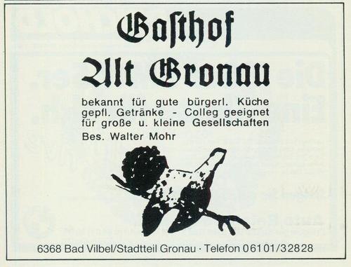 Werbeanzeige Gasthof Alt Gronau