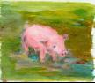 Zeichnung eines kleinen Schweins