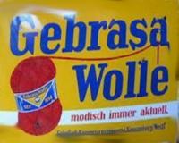 Werbeplakat Gebrasa Wolle