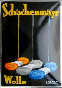 Werbeplakat Schachenmayr Wolle