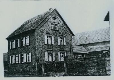Altes Foto eines Hauses