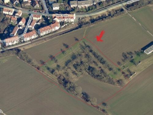Luftbild von Gronau mit hinweisen auf eine alte Grube