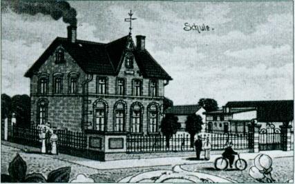 Zeichnung der neuen Schule