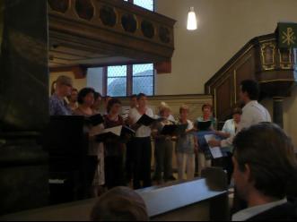 Chor GrowNow in der Kirche
