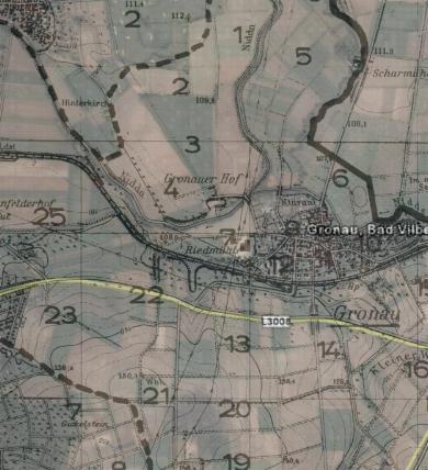 Karte von Gronau