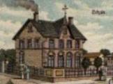 Zeichnung des alten Schulhauses