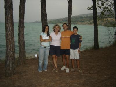 Jaime, Maite ,Aída y Adam(palotes)