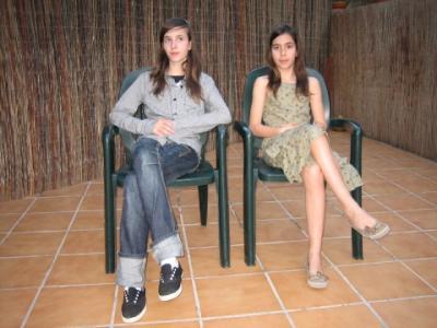 Eva y Ona las hijas de Jordi y Laura(Rudy)
