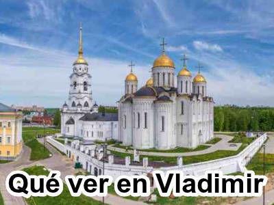 Atracciones turísticas en Vladimir, Rusia.