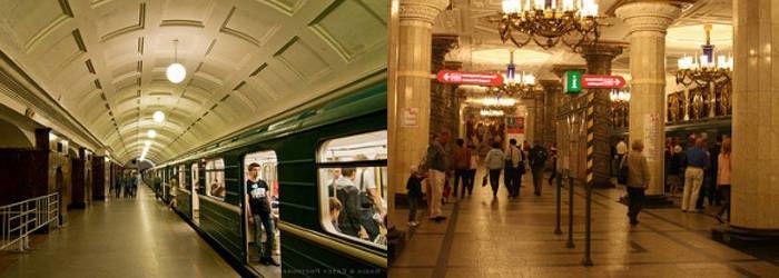 El transporte en San Petesburgo.