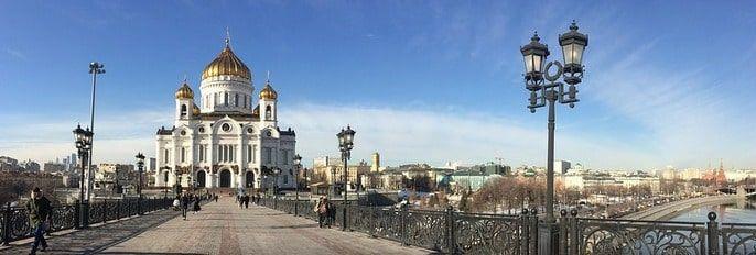 La Iglesia Ortodoxa rusa Cristo Salvador de Moscú.