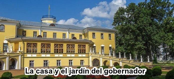 La casa y el jardín del gobernador en Yaroslavl