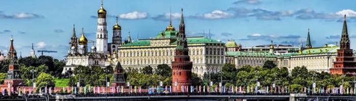 La cultura Rusa - Vista panorámica del Kremlin de Moscú.