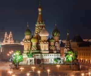City tour en Moscu nocturno