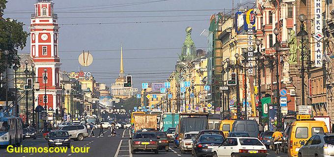 La avenida Nevsky Prospekt San Petersburgo