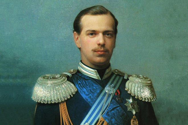 Zar Alejandro III de Rusia Joven