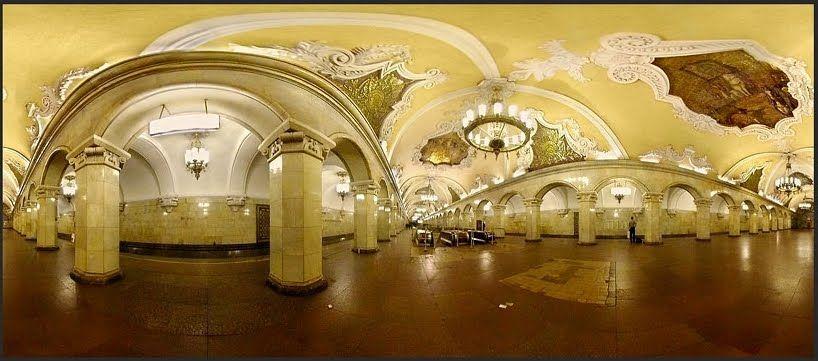 Komcomolskaya metro de Moscú