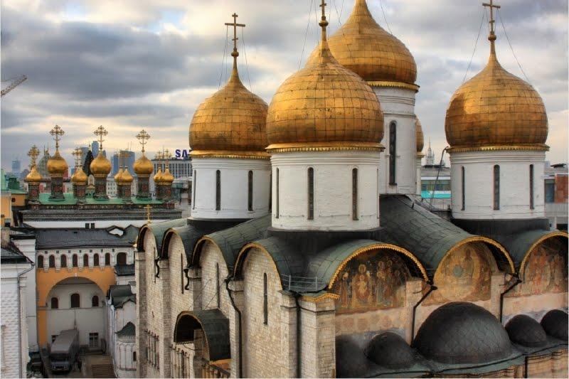 panoramica del kremlin catedrales
