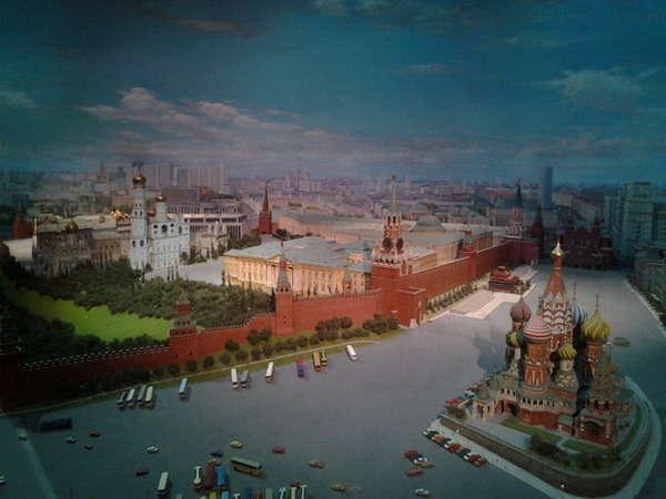 Maqueta en el Hotel Ucrania en Moscú.