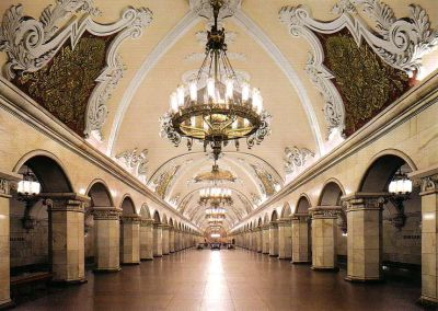 Komsomolskaya metro de Moscu