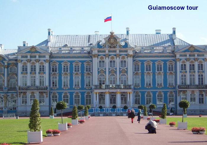 El palacio de Catalina en la ciudad de Pushkin San Peterburgo
