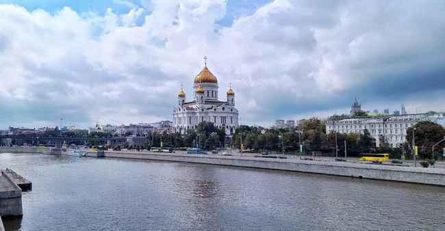 Panorámica Iglesia Cristo Salvador en Moscú.