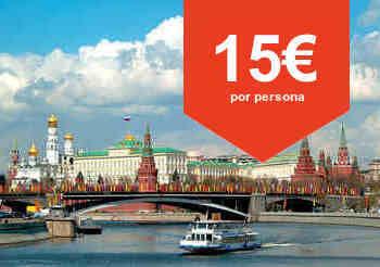 Paseo en barco por el rio de Moscú
