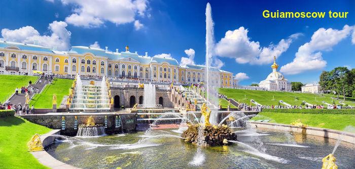 Visita a los jardines y fuentes de Peterhof