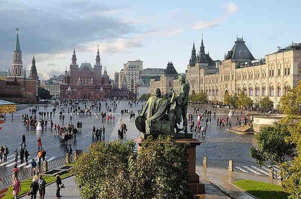 Panorámica de la plaza roja de Moscú