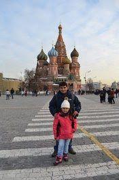 Guiamoscow en excursiones con familia de Chile