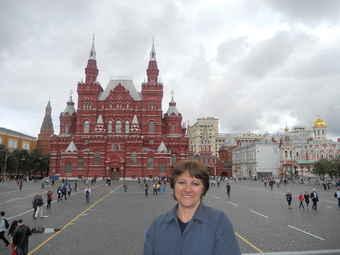 Turistas Argentinas en la plaza roja de Moscú, Guiamoscow tour