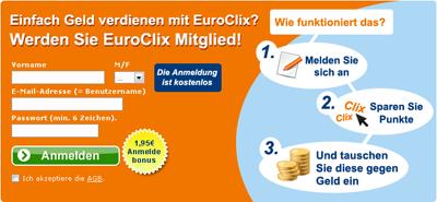Anmeldung bei Euroclix