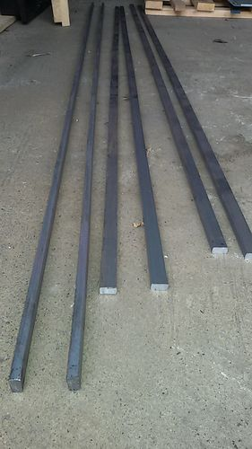 Schinenmaterial für ca 6 Meter Gleis.