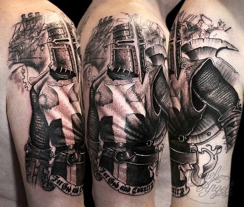 heaven light templar knights tattoos. Black Bedroom Furniture Sets. Home Design Ideas