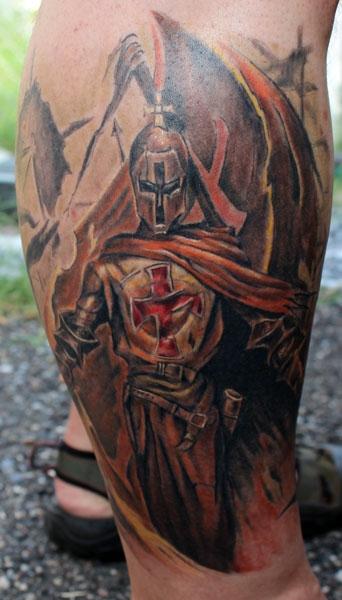 Crusader Cross Tattoo Designs